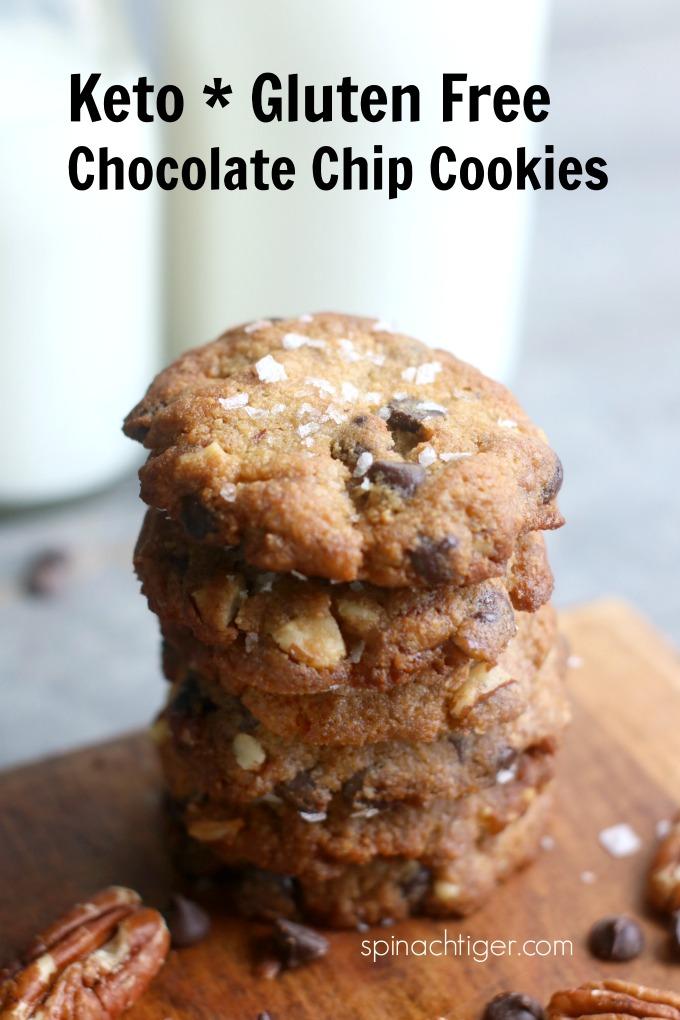 Keto, Gluten Free Chocolate Chip Cookies