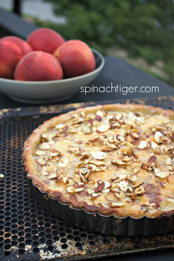 Low carb peach tart (Gluten Free) from Spinach Tiger