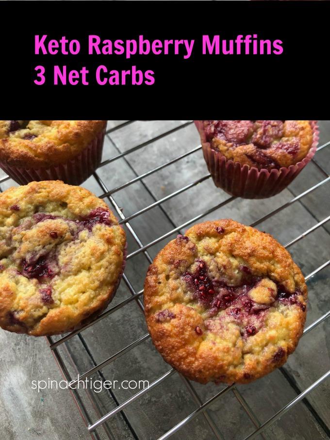 Keto friendly, low carb raspberry muffins from spinachtiger. #ketoraspberrymuffins via @angelaroberts
