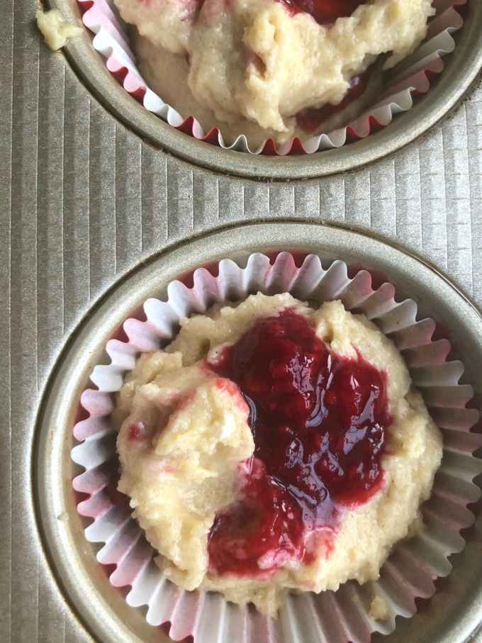Keto Raspberry Muffin Batter