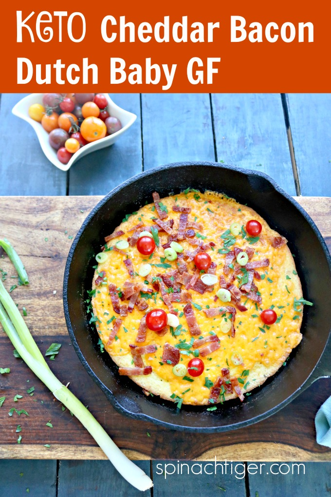 Keto Bacon Cheddar Dutch Baby, Grain Free