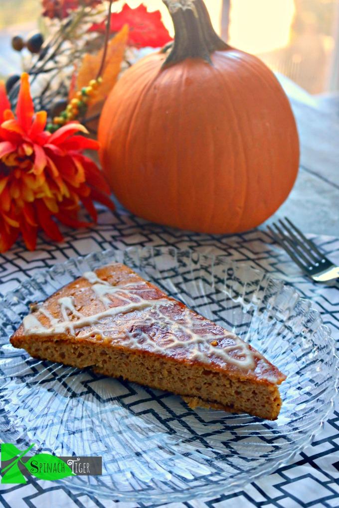 Keto Pumpkin Dutch Baby, Single Slice