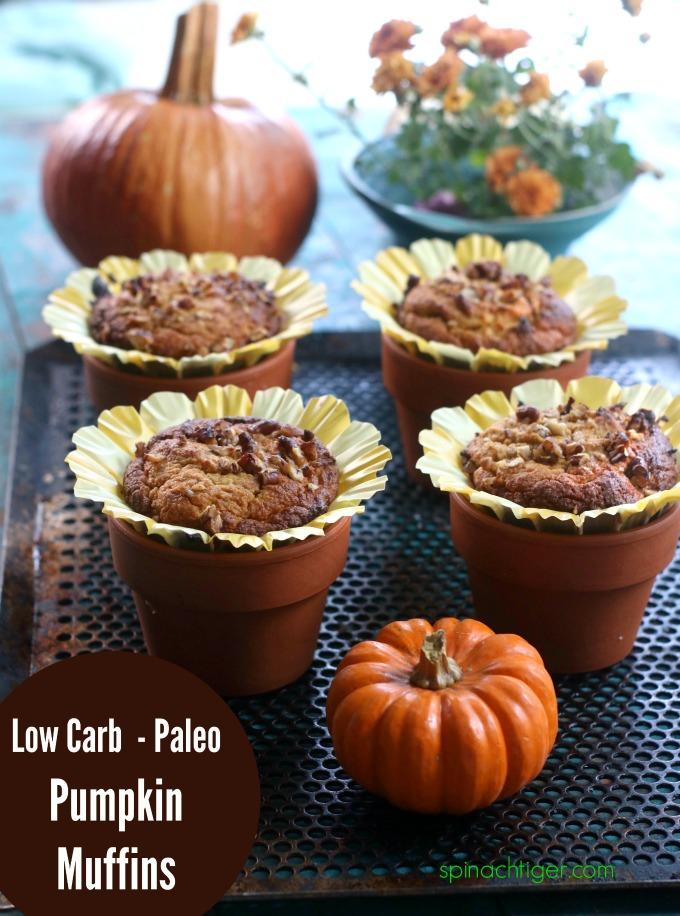 Grain free pumpkin muffins, keto friendly, sugar free