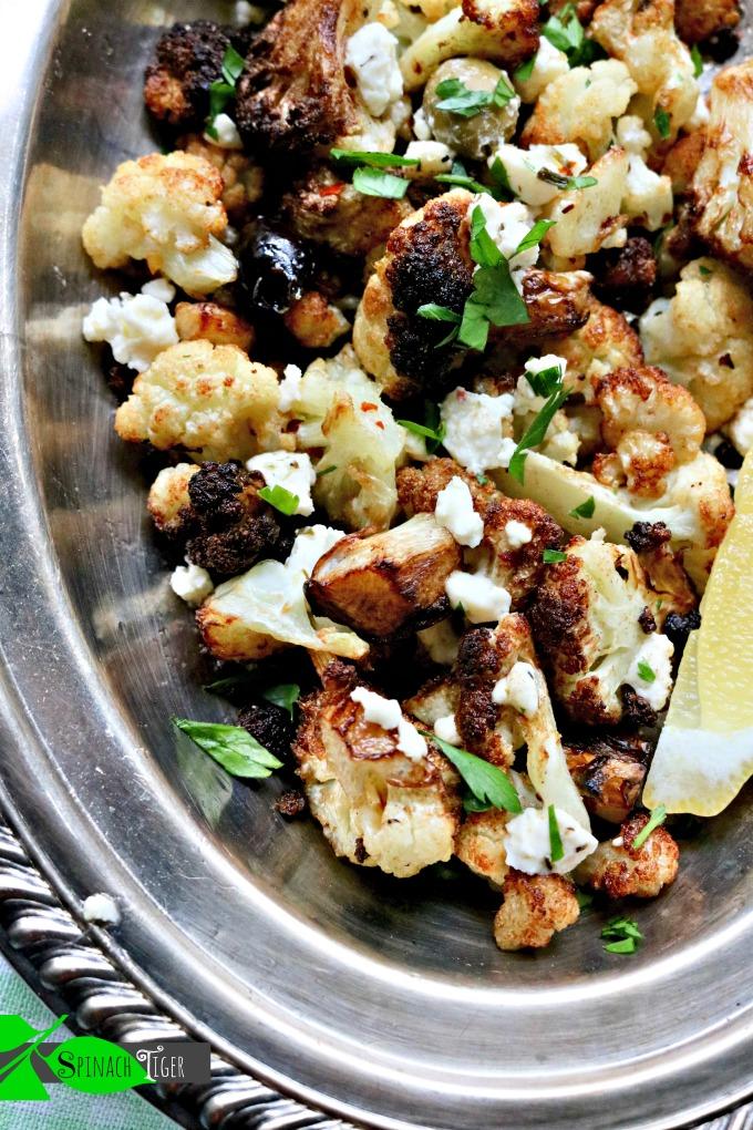 Flash Fried Greek Cauliflower from Spinach TIger