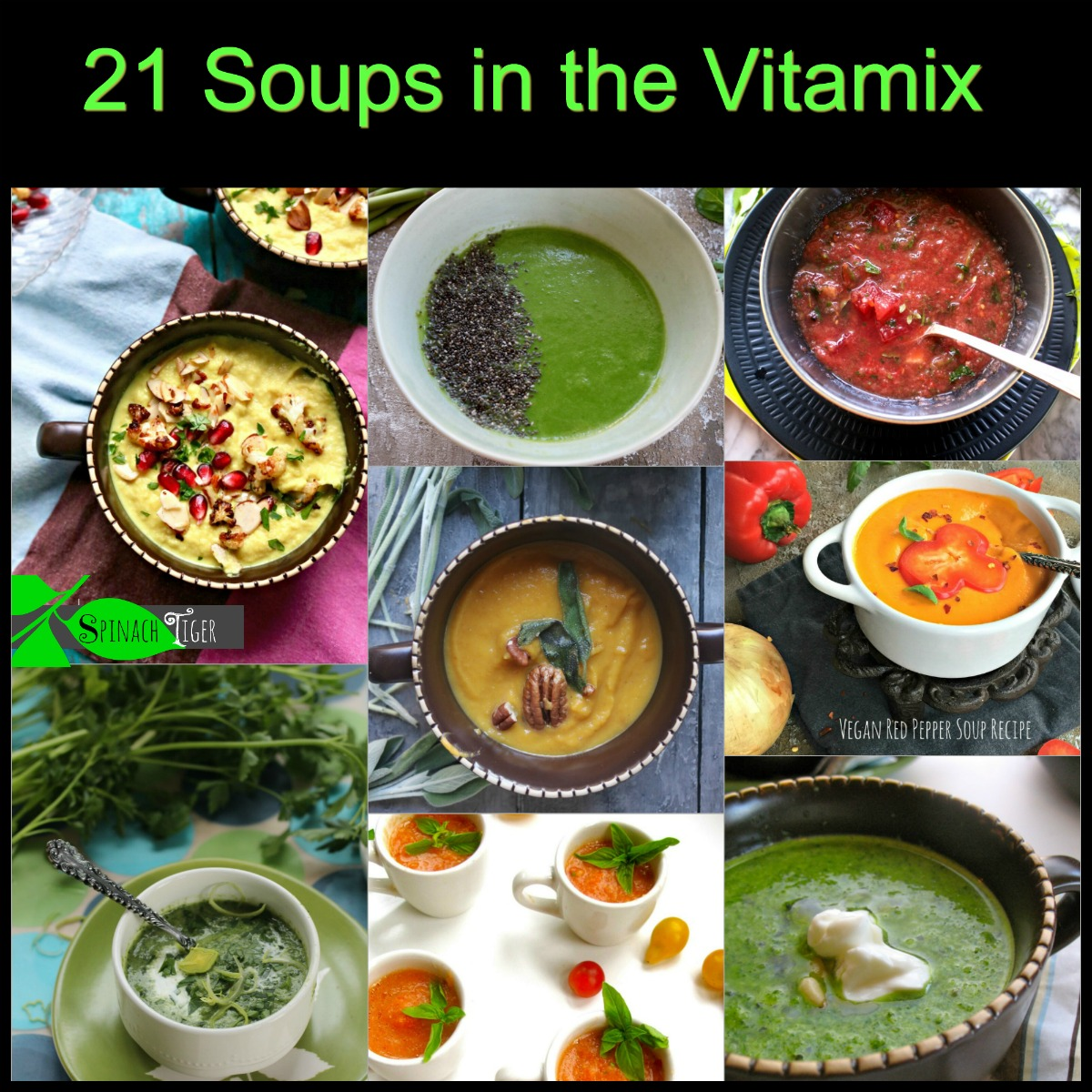 Vitamix Soup Recipes Made in Minutes via @angelaroberts