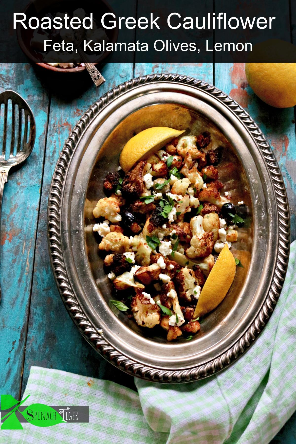 Easy Flash Fried Greek Cauliflower with Kalamata Olives, Feta