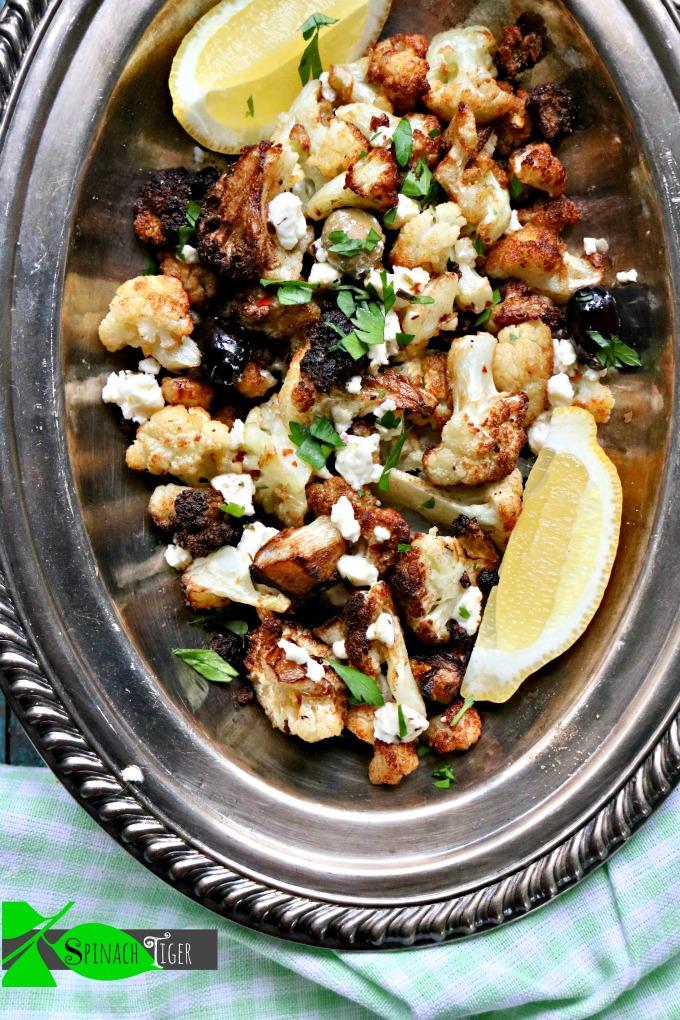 Low Carb Cauliflower Recipes: Flash Fried Greek Cauliflower
