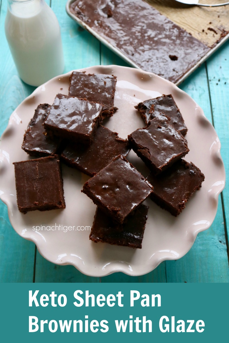 Grain Free Sheetpan Brownies from Spinach TIger