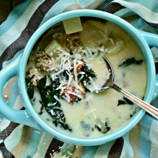 Keto Zuppa Toscana from Spinach Tiger