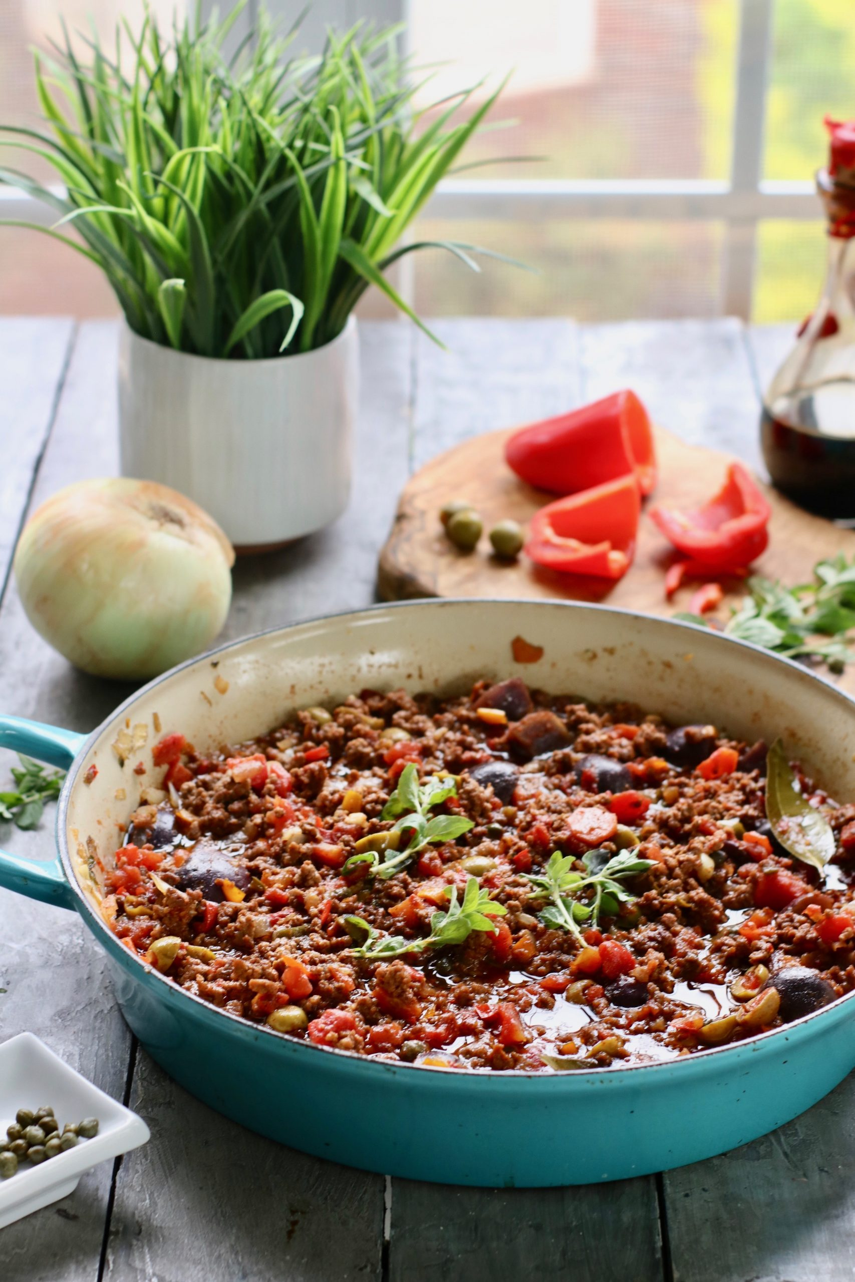 Cuban Picadillo cooked low and slow