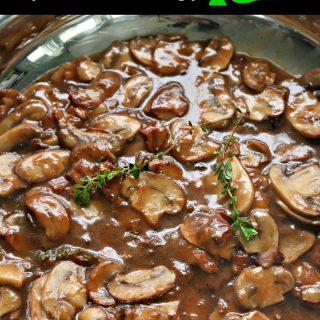 Steak Mushroom Sauce over Steak Burgers