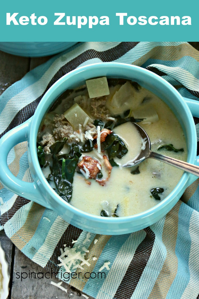 Olive Garden Zuppa Toscana Recipe (Keto) via @angelaroberts