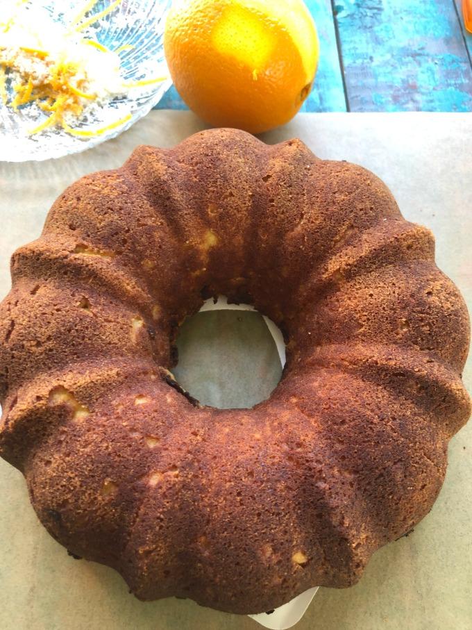 Orange Bundt Cake no Icing