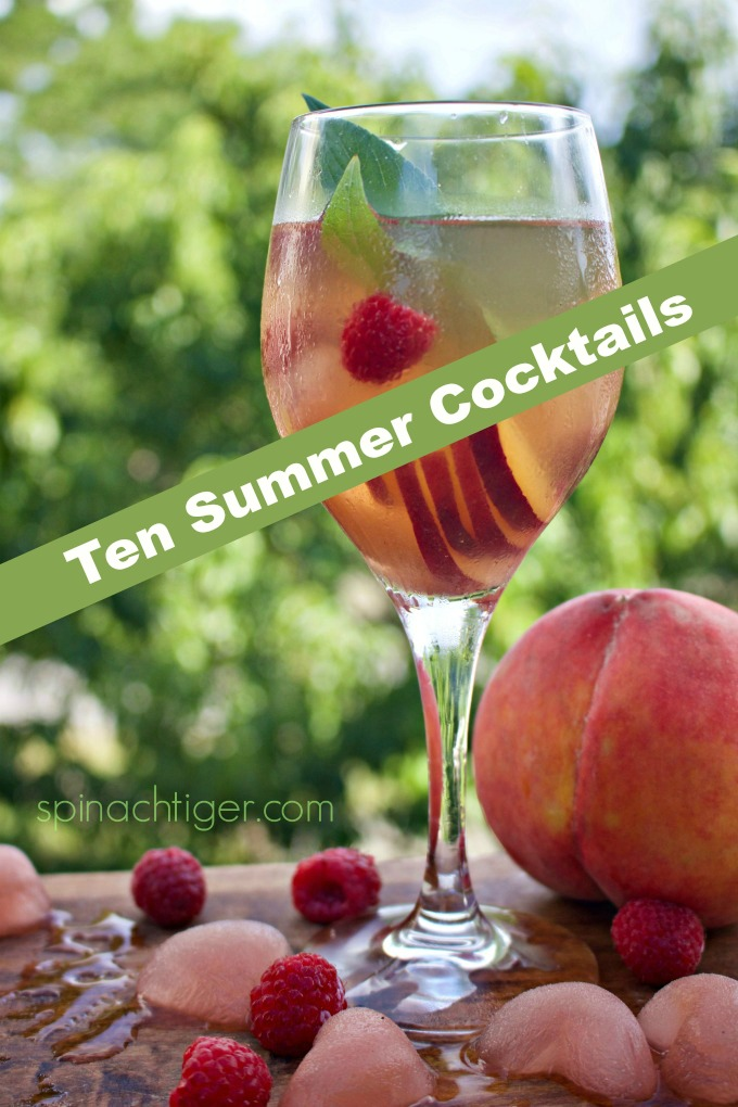 Ten Refreshing Summer Cocktail Drinks, Sangria, Frose, Old Fashioneds, Martinis, Margaritas, simple syrup and more from #spinachtiger #summerdrinks #summercocktails #summercocktaildrinks. via @angelaroberts