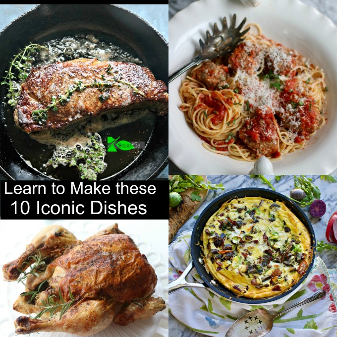 Make these 10 Iconic American Dishes. Roast Chicken, Perfect Steak, Spaghetti and Meatballs and More. via @angelaroberts