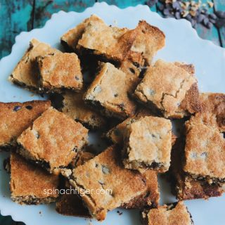keto chocolate chip blondies