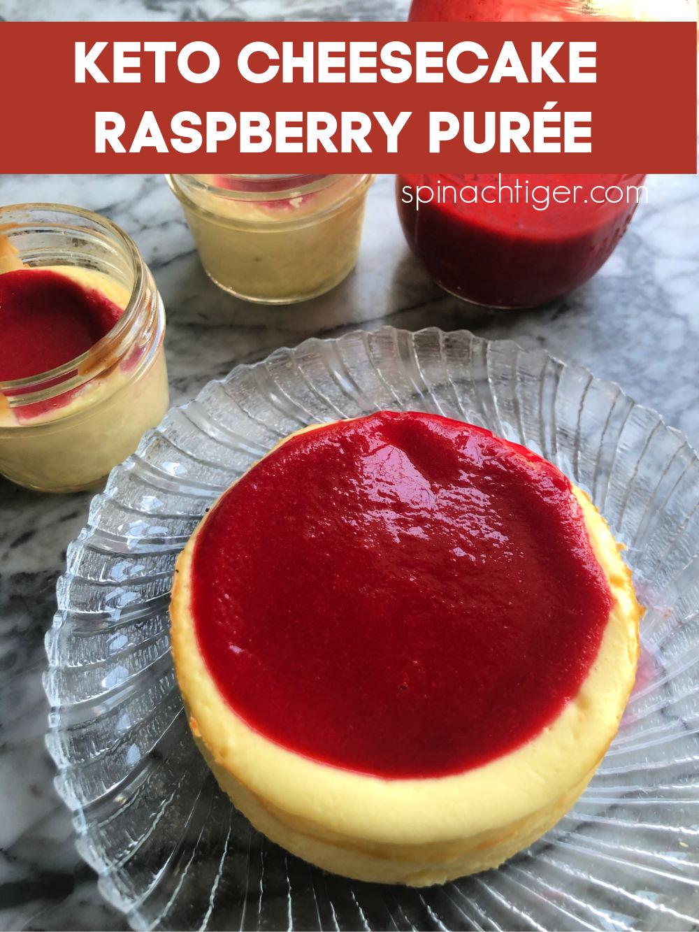 Cheesecake with Sugar Free Raspberry Puree
