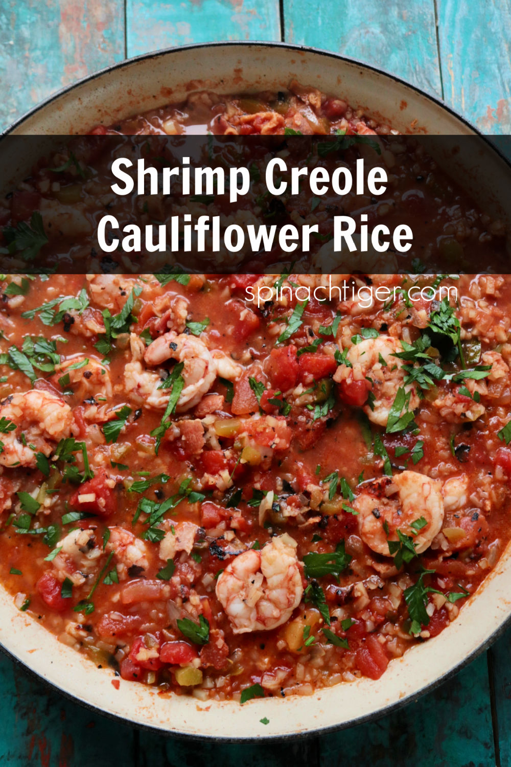 Keto Shrimp Creole with Cauliflower rice, tomatoes, bacon, bell pepper, celery, onion and cajun spices. Easy to make, full of flavor and low in carbs and calories. #ketocajun #ketoshrimpideas #ketocajunides #shrimp #ketoshrimpcreoloe via @angelaroberts