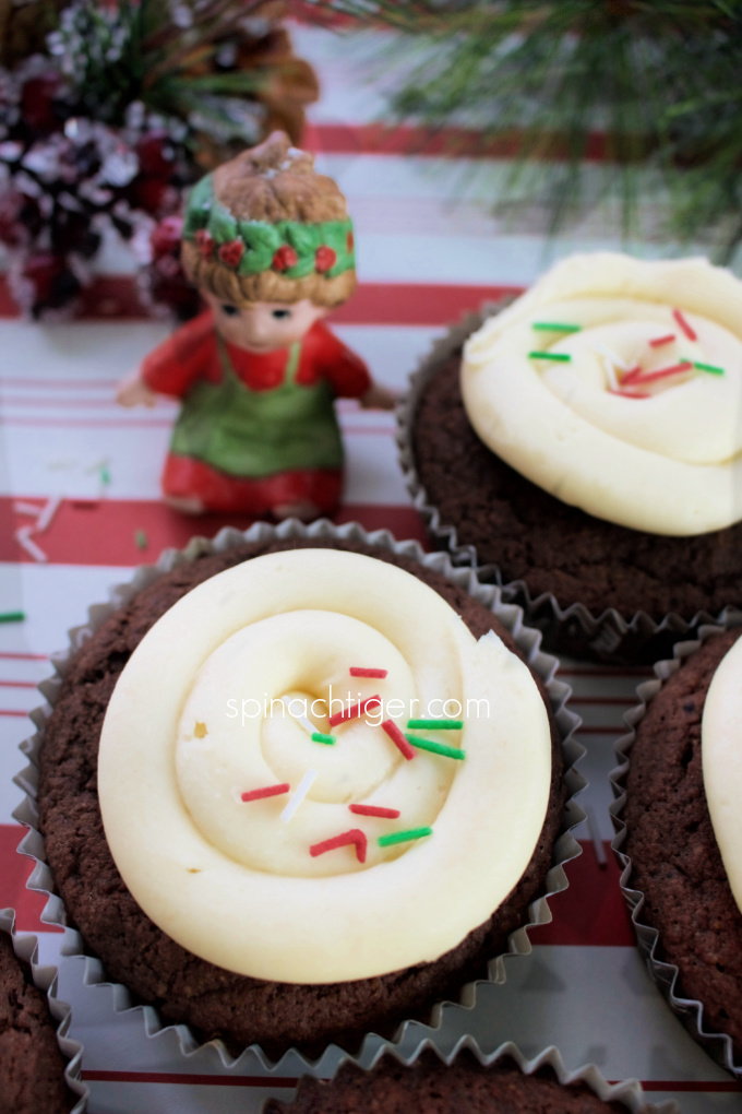 Keto Chocolate Cupcakes, Keto Peppermint Frosting